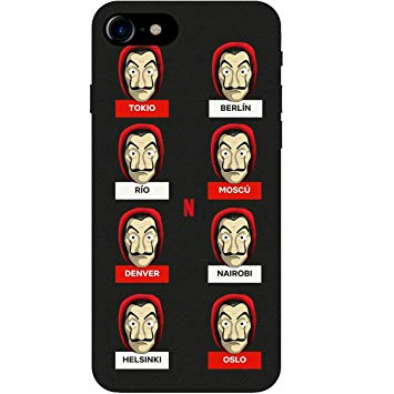 funda personajes la casa de papel iphone y android